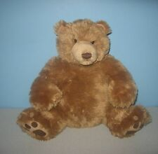 "GUND 16"" Happy Pumpkin Belly Claw Paws Stuffed Bean Plush Grizzly Teddy Bear"