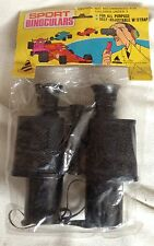 SPORT TOY BINOCULARS WITH STRAP OLD VINTAGE NOS JARU JA-RU RACE CAR PACKAGE NEW