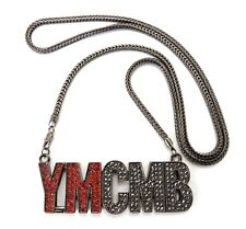 """NEW ICED OUT YOUNG MONEY PENDANT & 36"""" FRANCO CHAIN"""