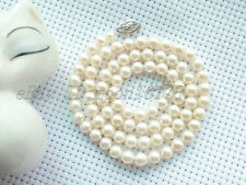"""18"""" AAA++ GRADE 6.5MM WHITE AKOYA PEARL NECKLACE 14K"""