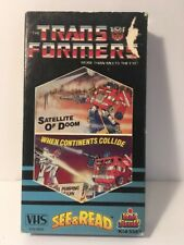 RARE VTG Transformers Satellite Of Doom/ Continents Collide 1985 Original VHS