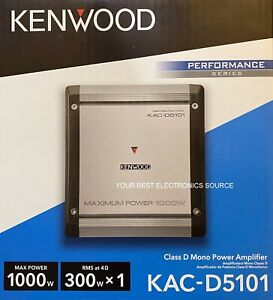 NEW KENWOOD KAC-D5101 Class D, 1-Channel Mono Car Audio Amplifier
