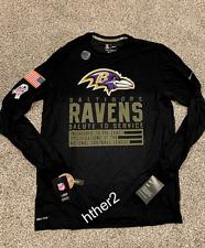 2020 Baltimore Ravens Nike Salute to Service Dri-Fit Long Sleeve Shirt ALL SIZES