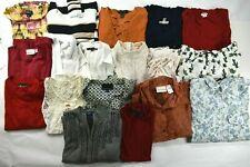 Wholesale Lot of 18 Women's Medium Casual Shirt Blouse Sweater Mixed Season Tops