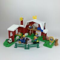 Fisher Price Little People Farm Horse Ranch Petting Zoo Animals People Bundle