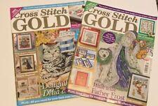 Lot of 2 Cross Stitch GOLD UK Magazine Issues 32 & 34 London Pattern Projects