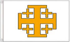 JERUSALEM CROSS FLAG 5' x 3' Medieval Crusaders Knights Templar Holly Order