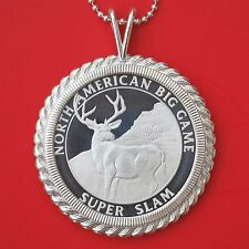 North American Hunting Club Big Game 1 oz .999 Silver Coin Necklace - Mule Deer