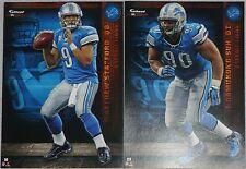 2012 NFL FATHEAD TRADEABLES Lot 2 Matthew Stafford Ndamukong Suh Detroit Lions