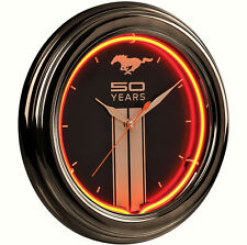 Ford Mustang 50 Years Neon Wall Clock - 50th Anniversary - Pony - Running Horse