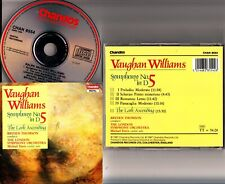 W.GERMANY: VAUGHAN WILLIAMS: Symphony 5, LSO CD -MICHAEL DAVIS (Violin Solo)