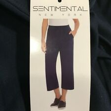 Sentimental New York Women's French Terry Pull On Capri Pant Soft Touch