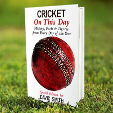 Personalised Cricket On This Day Hardback Book - Cricket History Gift For Him