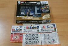 Tomy Tomica Bit Char-G Silver Toyota Celica Full Function Micro RC Car & Parts