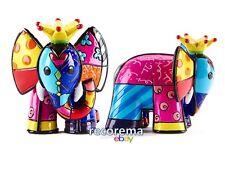 ROMERO BRITTO MINI FIGURINE: ELEPHANT IN YELLOW CROWN ** NEW ** GIFT BOX