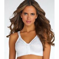 BALI DOUBLE SUPPORT® FRONT-CLOSE WIRE-FREE BRA - White 42DD