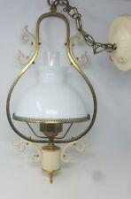 BRASS 1930's VINTAGE ART DECO ANTIQUE Ceiling Light Fixture CHANDELIER