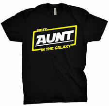 Best Aunt In The Galaxy Shirt Gift Tee T Shirt Black T-Shirt