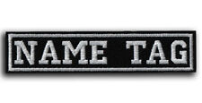 CUSTOM Your Name Tag PATCH Embroider Airsoft - Biker HOOK & LOOP / IRON ON / SEW