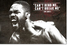 JON JONES BADASS MOTIVATIONAL MMA QUOTE - POSTER PRINT PRE SIGNED - 12 X 8