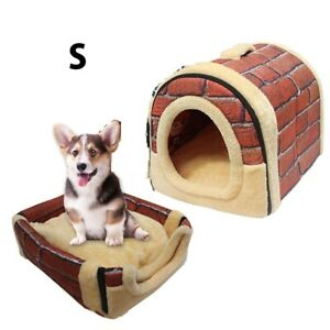 SMALL CAT DOG BED HOUSE Multifunctional Winter Warm Cushion Indoor House NEW