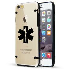 For Apple iPhone SE 5s 6 6s 7 8 Plus Slim Clear TPU Hard Case Star of Life EMT