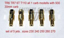 Principaux Buses Set mainjets tr6 tr7 with 930 30 mm Concentric écrivez ou quoi, 5 sizes 230-270