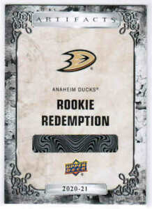 20/21 2020 UD ARTIFACTS HOCKEY ROOKIE REDEMPTION CARDS 181-220 U-Pick From List