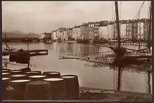 France - St. Tropez - Le Port - Vintage Real Photo Postcard
