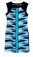 BNWT Basque Womens Black/Blue Sleeveless Dress Size 10