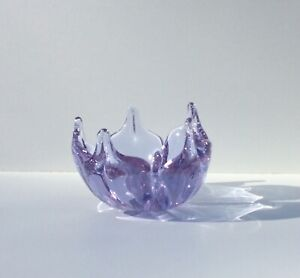 Tiffin Twilight Art Glass Free Form Narcissus Bowl