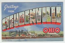 [65636] OLD LARGE LETTER POSTCARD GREETINGS from STEUBENVILLE, OHIO