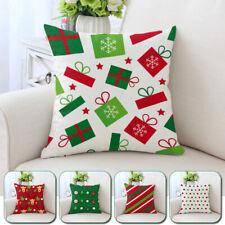45cm Merry Christmas Square Cushion Cover Xmas Throw Pillowcase Sofa Chair Decor