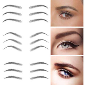 4D Eyebrow Tattoo Sticker Makeup Eyebrows Fake Long Lasting Natural Waterproof