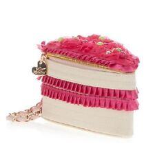"NEW Betsey Johnson LET THEM EAT CAKE Pink Slice of Cake Wristlet Handbag 4x4x7"""