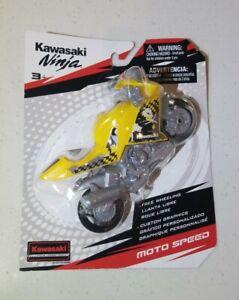 Kawasaki Ninja Moto Speed Motorcycles Color Yellow
