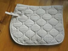 LETTIA CoolMax Saddle Pad Quilted White Silky Braided Piping 23 x 40 (EP293)