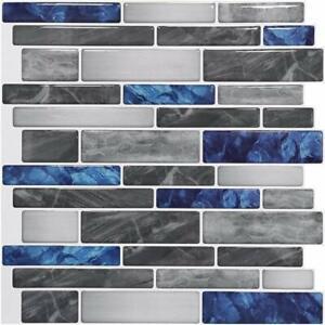 10 Sheets Peel and Stick Tiles Self Adhesive Marble Wall Bath Kitchen Backsplash