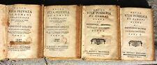 VITA PRIVATA E VITA PUBBLICA DE' ROMANI 1783 / 84 DUE OPERE ARCHEOLOGIA RARE