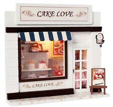 Un artigianato FAI DA TE in miniatura casa bambole - in Legno Dollhouse SHOP luci LED-UK STOCK