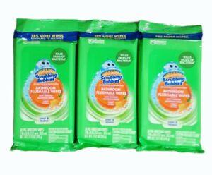 3 pack Scrubbing Bubbles Bathroom Flushable Wipes 36 Count Ea Citrus Action lot