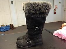 Roxy Black Insulated Knee-High Boots Womens Size 9 M