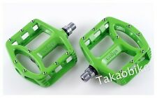 New WELLGO MG-1 MG1 Magnesium Bike Fixed Gear Pedal MTB & BMX PEDALS - Green