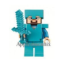 NEW LEGO Minecraft The Ender Dragon 21117 STEVE Minifigure w/Diamond Armor Sword