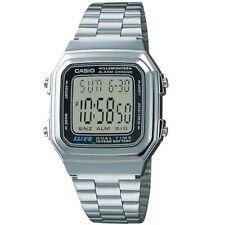 Casio A178WA-1A Vintage Series Silver Tone Retro Stainless Steel Digital Watch