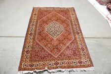 C 1960 Stunning Antique Vintage Exquisite Hand Made Hand Knotted Rug 5x3
