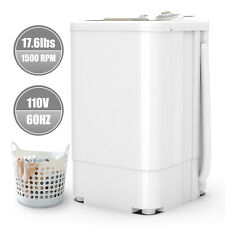 17.6 LBS Compact Spinner Mini Dryer Draining 1500 RPM Home Laundry Dorms White