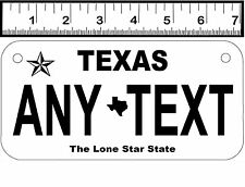 PERSONALIZED ALUMINUM MOTORCYCLE  STATE LICENSE PLATE-TEXAS