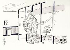 Original Comic Strip Art By Bruce Bolinger MUMMY PROVIDES TOILET PAPER Cartoon