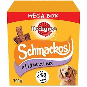 Pedigree Schmackos Mega Pack - Dog Treat Multipack with Beef, Lamb and Poultry
